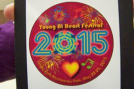 Admission button for Young at Heart Festival is unveiled