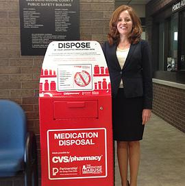 Drug collection bin placed at Public Safety Building