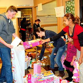 Giving to others warms the heart at Christmas