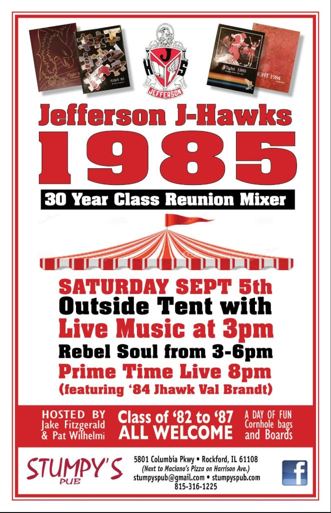 Jefferson High School announces 30 year reunion and alumni bash