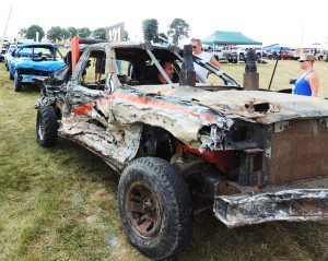 Boone County drivers dominate this year's fair demolition derby