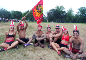Playing in the mud for a good cause at annual mud volleyball tournament in Roscoe