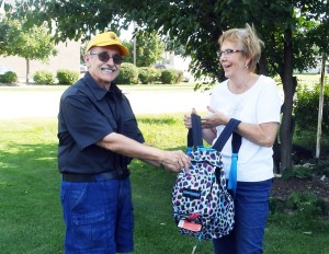 The big winners of the Lions Club Fall Festival drawing