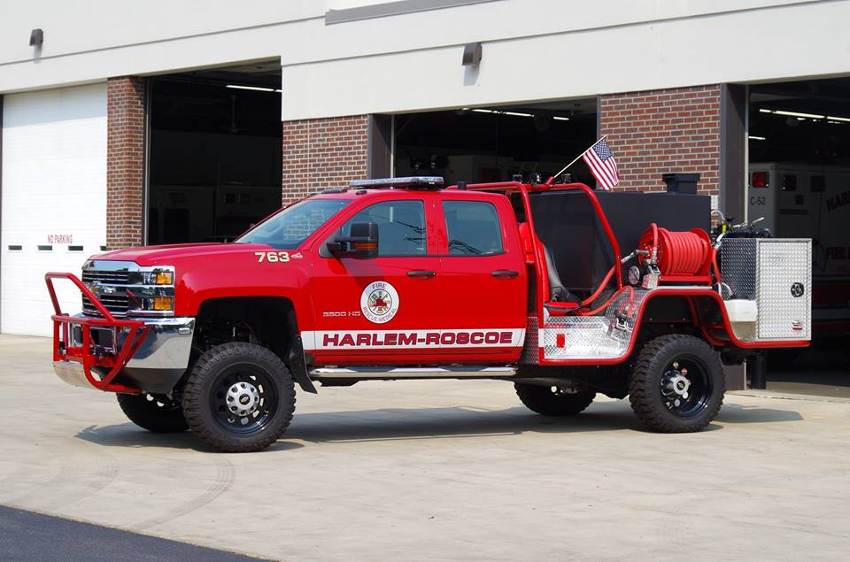 Harlem-Roscoe Fire takes possession of new grass rig