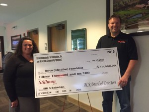 BCR makes large gift to Byron Foundation