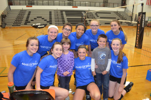 Area volleyball teams contribute to Emmalyn's Make A Wish
