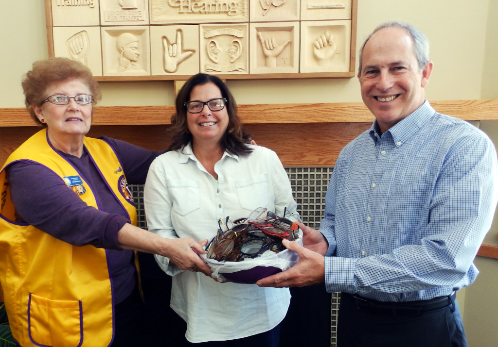 Roscoe Lions Club donates 342 pairs of eyeglasses to Sight and Hearing Center