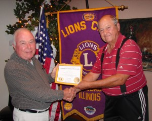 Winnebago Lions Club new member