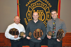 Harlem-Roscoe Fire personnel gather for trustees annual recognition award dinner