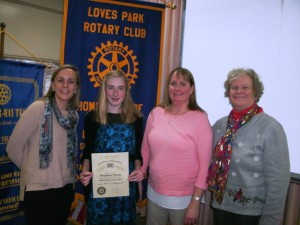Loves Park Rotary Club names Student of Month
