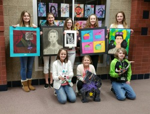 Roscoe student artists' works on display at Rockford Art Museum.
