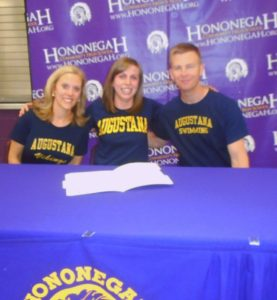 Hononegah athlete, honor student signs letter of intent to swim at Augustana