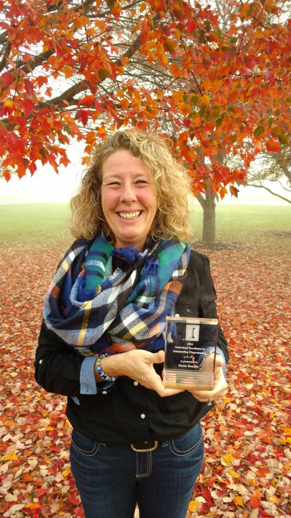 Sue Buntjer receives Individual Excellence in Outstanding Programming Award