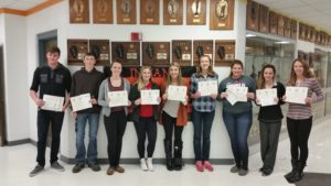 WHS announces Seniors of the Month