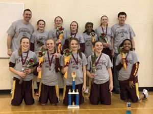 Stephen Mack Warriors girls' basketball team undefeated