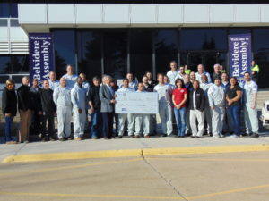 Fiat Chrysler/UAW presents check to United Way of Rock River Valley
