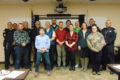 ANNE EICKSTADT PHOTO Belvidere Daily Republican 	The graduates of the Belvidere Citizens' Police Academy spring session are joined by Mayor Mike Chamberlain, City Attorney Drella, Police Chief Woody, Deputy Chief Wallace, Officer Blankenship and a few of the course's instructors.