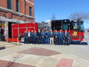The Belvidere Fire Dept. puts a new fire engine into service