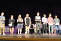ANNE EICKSTADT PHOTO Belvidere Daily Republican The 2017/18 All Conference Team athletes gathered on the stage to receive a standing ovation during Belvidere High School's All-Sports Awards Night.
