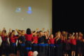 """ANNE EICKSTADT PHOTO Belvidere DAILY REPUBLICAN The St. James Primary Choir (K-3rd) performed a medley of songs for the """"National Day of Prayer: Pray for Unity"""" Prayer Breakfast at the Community Complex Building."""