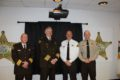 SUBMITTED PHOTOS Belvidere Daily Republican Chief Deputy Perry Gay, Sheriff Ernest, Lt. Scott Yunk, and Sgt. Ryan Smith at the Promotion Ceremo-ny.