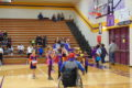ANNE EICKSTADT PHOTO Belvidere Daily Republican The Harlem Wizards encourage the kids to come onto the court before the game to shoot baskets, spin balls, and enjoy their tricks.
