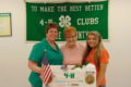 ANNE EICKSTADT PHOTO Belvidere Daily Republican Melissa Irwin, Charlotte Kennedy, and Serenity Brockman are pleased with the yarn donated by the 4-H to assist in the Lapghans for Veterans project.  www.sgtpslapghans.org