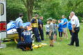 Kids flocked to the firefighters after the water safety/rescue discussion to find out more.