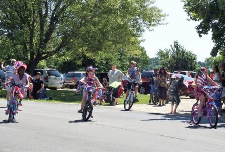 BARB APPELHANS PHOTOS Belvidere Daily Republican Children decorated their bikes and joined in the parade.