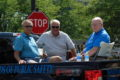 ANNE EICKSTADT PHOTO Belvidere Daily Republican 	Former Police Chief Bob Bowley, former Police Chief Jan Noble, and former Fire Chief Dave Worrell received a standing ovation from the crowds as they passed by in the Heritage Days parade.