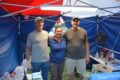 COURTESY PHOTO Belvidere Daily Republican VACBC Assistant Superintendent Elizabeth Carville stands with booth volunteers Greg Novak on the left on Tom Minton on the right during the recent Boone County Fair.