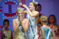 ANNE EICKSTADT PHOTO Belvidere Daily Republican 2018 Miss Boone County Katrina Danielle Graham is crowned by 2017 Queen Lauren Michelle Clemens and 2017 Little Miss Boone County Ella Ingrid Kjellstrom.