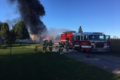 COURTESY PHOTO Belvidere Republican Boone County Fire District #2 responding to barn fire on Pearl Street Road.