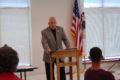 ANNE EICKSTADT PHOTO Belvidere Republican Mayor Mike Chamberlain opened the second session of the Citizens Police Academy and remembered how much he had enjoyed the CPA sessions when he attended them last year.