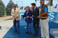 ANNE EICKSTADT PHOTO Belvidere Republican Members of OSF HealthCare, Belvidere Park District, and the City of Belvidere cooperate in the ribbon cutting officially opening the new Fitness Court.