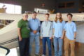 ANNE EICKSTADT PHOTO Belvidere Republican 	Grampa Steve, Chuck Jansen, Ian Carter, Joey Howe, and Kyle Petges all had a part in rebuilding the pre-war 1941 Areonca Chief plane.