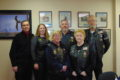 ANNE EICKSTADT PHOTO Belvidere Republican 	VAC Superintendent Robert Ryder with members of the American Legion Riders.