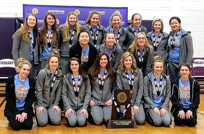 Hononegah girls' basketball team bring home the prize