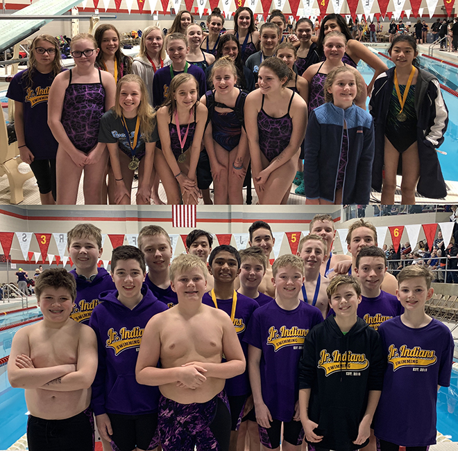 JR Indians Swimmers Repeat as Conference Championships