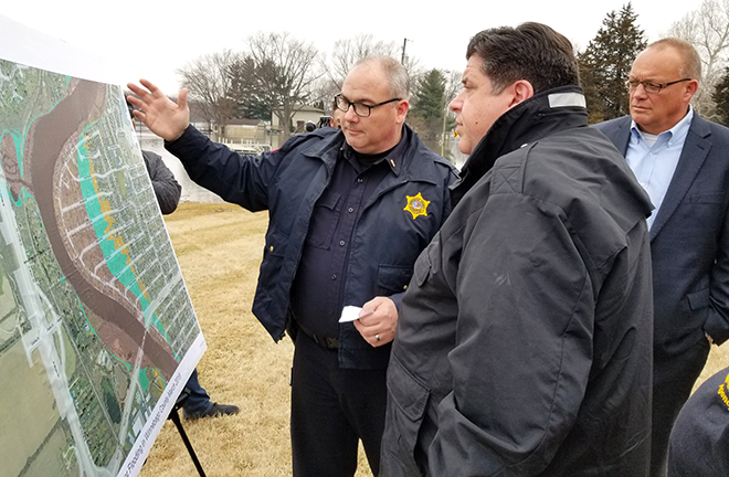 Gov. Pritzker Tours Flood-Impacted Areas in Northern Illinois
