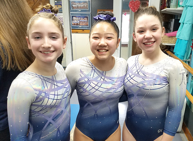 Area gymnasts place at the 'Heart Flips a Beat' meet