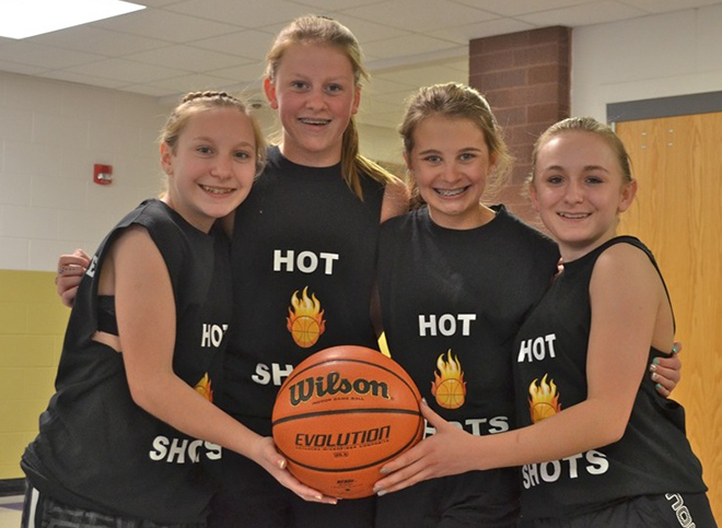 The Hot Shots took 1st Place in the 7th and 8th Grade Girl's Division