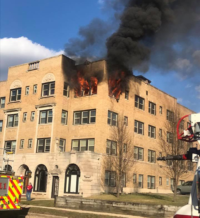 Rockford Fire Battles Blaze at Downtown Apartment Building
