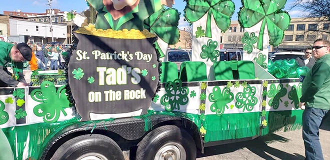 Tad's On The Rock Wins Best Float