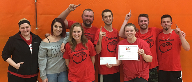 """Freeballers"" take 1st Place in Winnebago Park District's Dodgeball League"