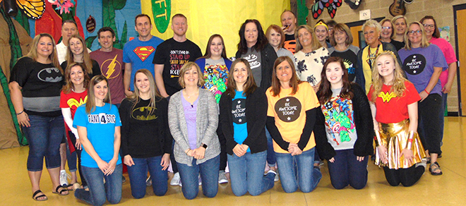 Teachers, Staff Recognized as 'Super Heroes' in Rockton School District
