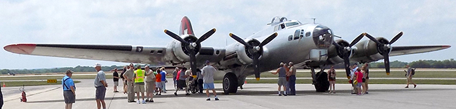 The WWII B-17 Bomber At Chicago/Rockford International Airport