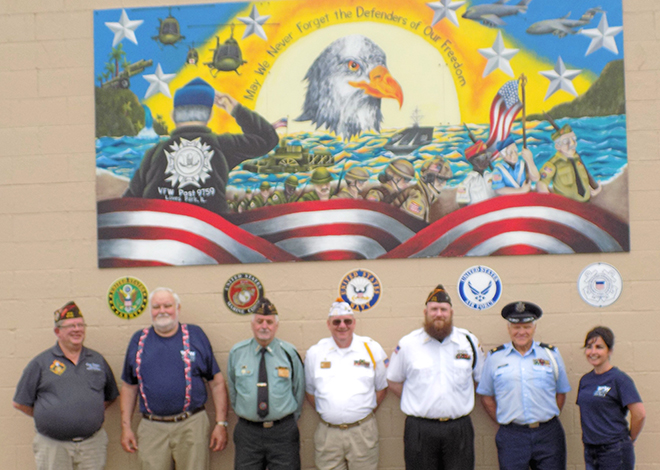 Patriotic Mural Completed by Boylan High School Students