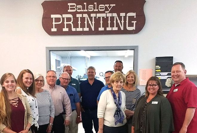 Members of eleV815 get to know local businesses with tour of Balsley Printing, Rockton Inn