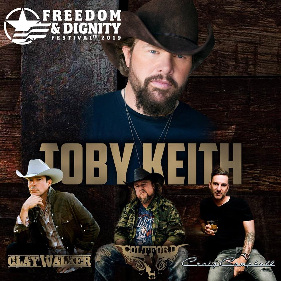 Tickets going fast for Toby Keith benefit for Café Liberty